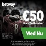 betway sports belgie €50 gratis weddenschap