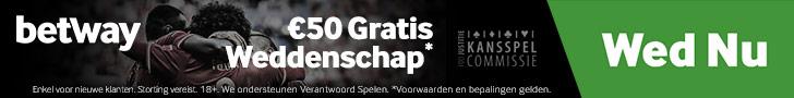 Betway Sports Belgie met €50 bonus