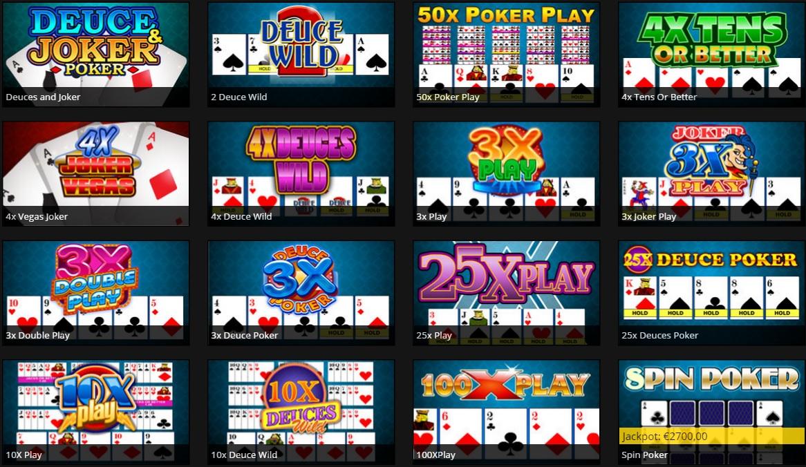video poker casino777.be