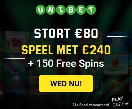 Unibet 150 gratis spins